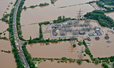 Power plants and electricity distribution networks are particularly vulnerable to droughts and floods. (Credit: Stephen Hird/Reuters) Click to enlarge.