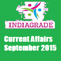 Current Affairs 1st September 2015