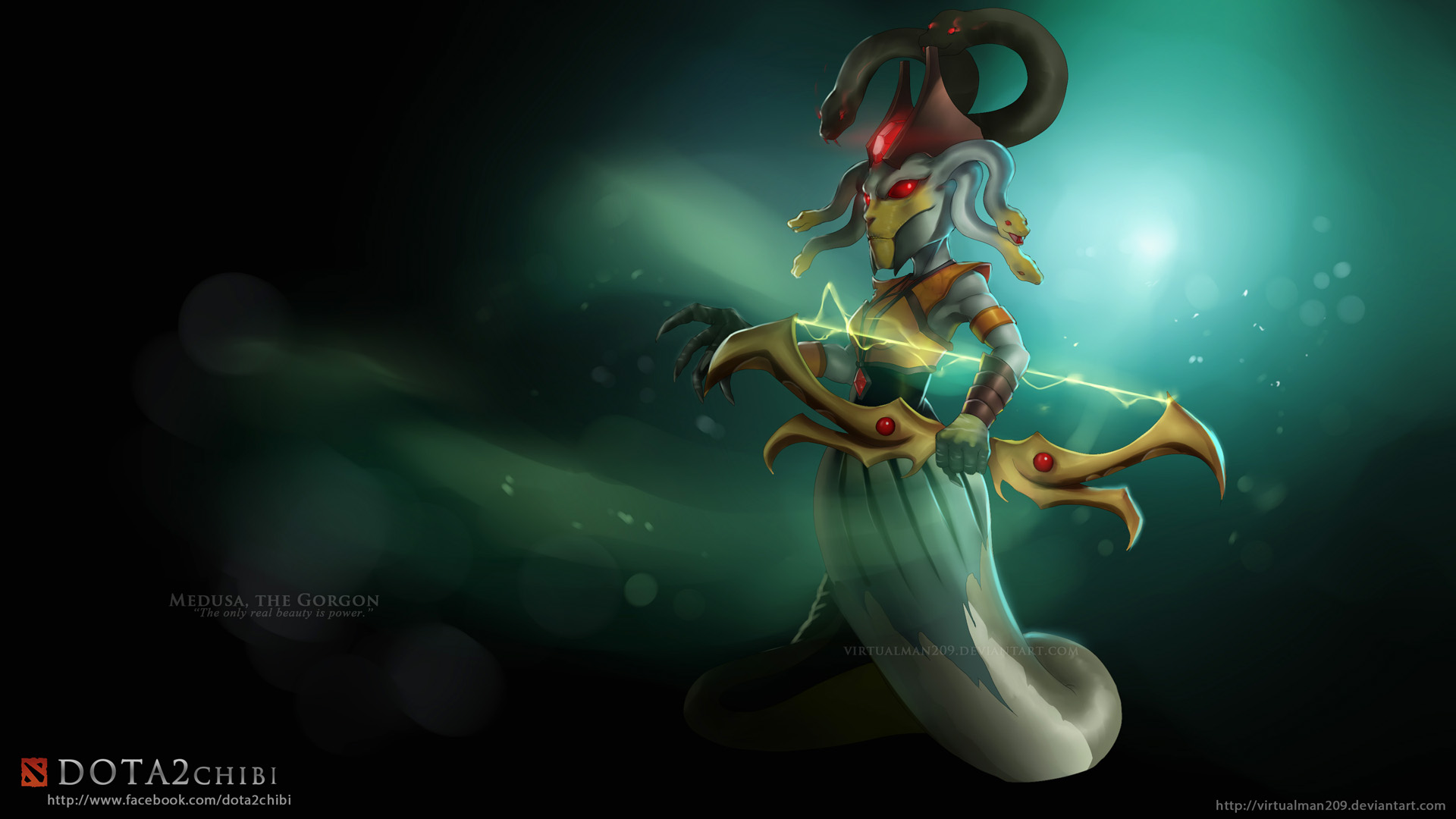 Dota 2 Chibi Medusa 6h Wallpaper - 200.5KB