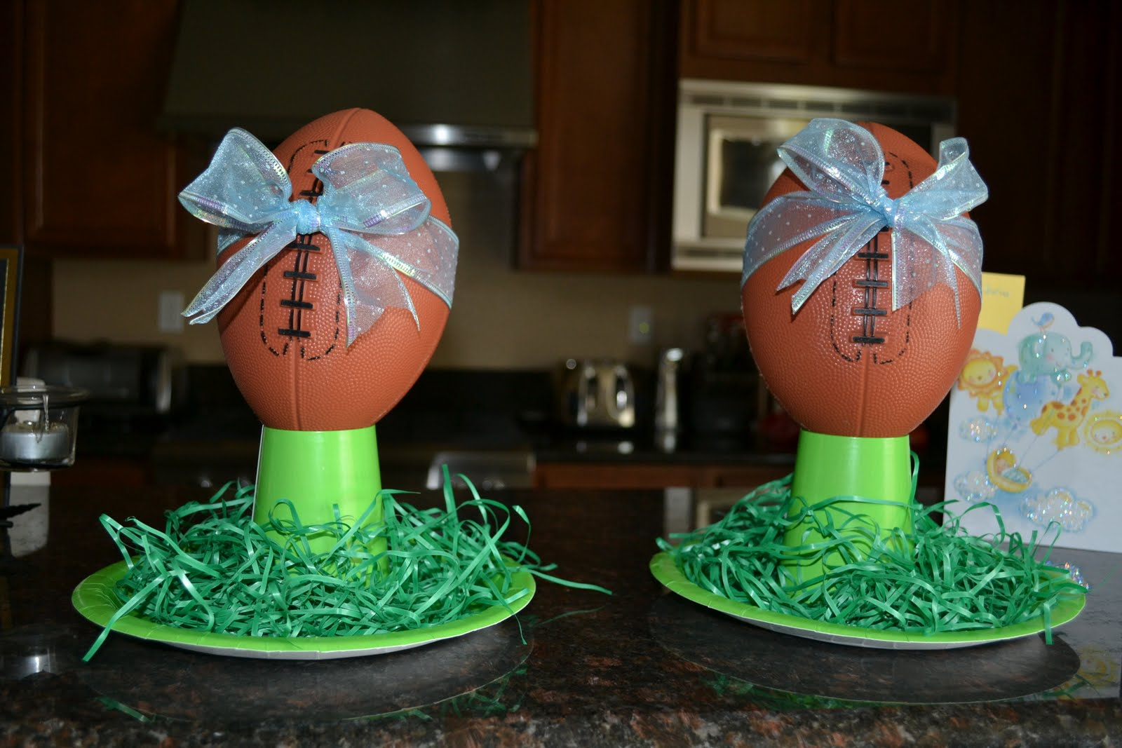football theme baby shower prep