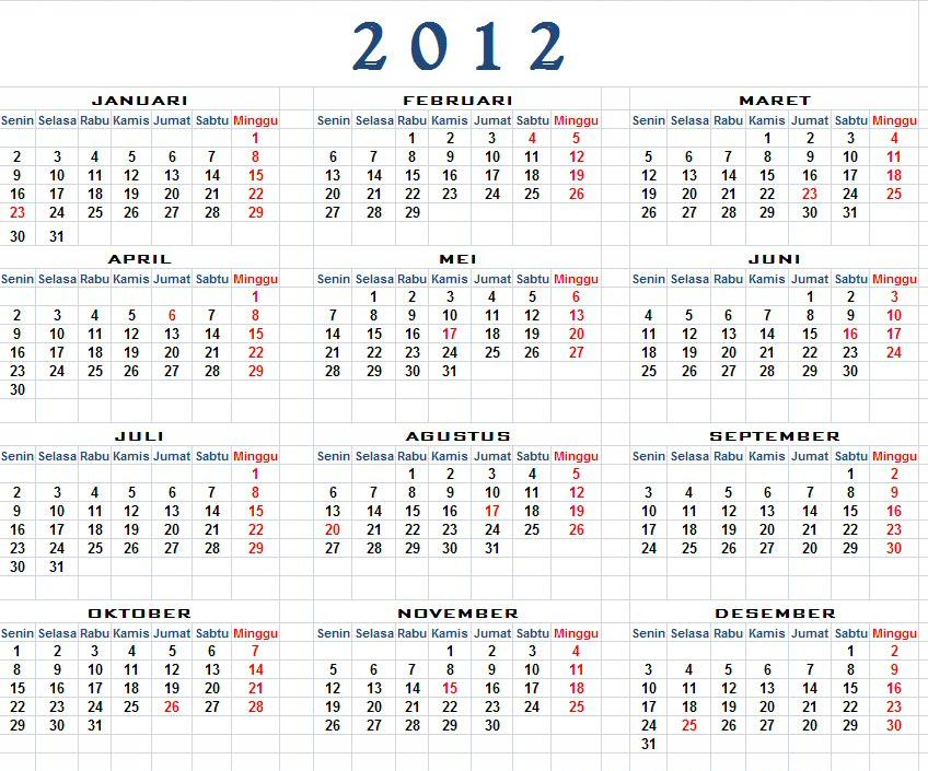 Kalender 2012 - Download Kalender 2012
