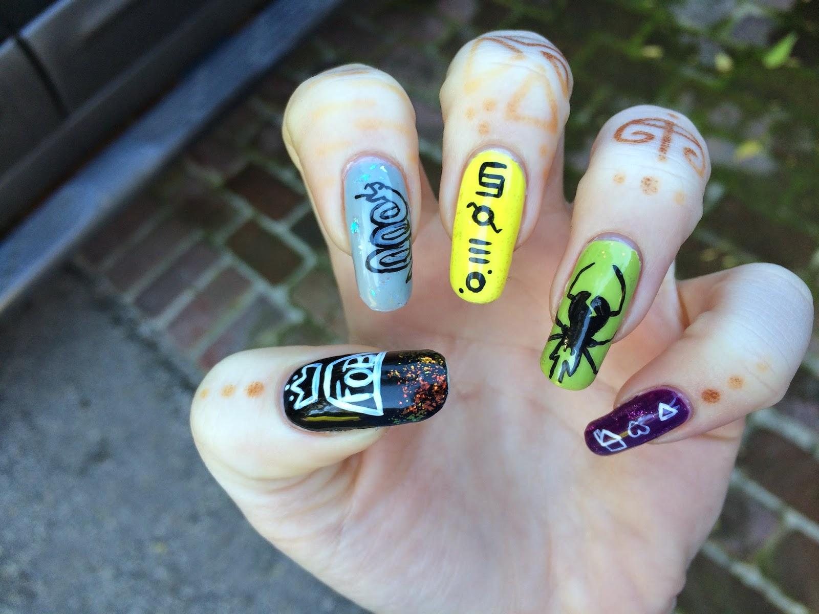 Weeklywackynails Band Logo Nail Art