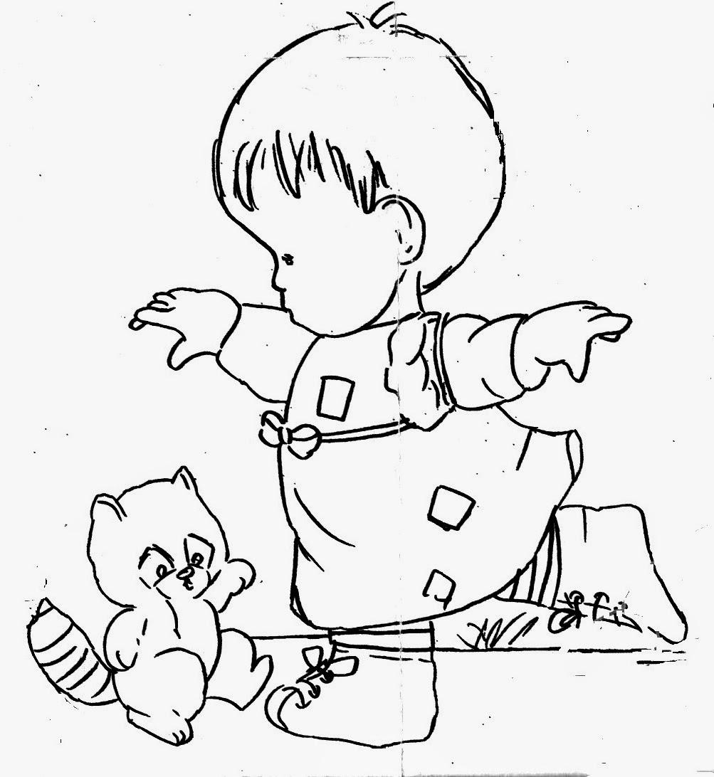 desenho de menina com esquilo para pintar
