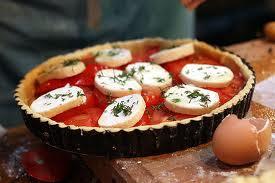 tarte de tomate e mozzarella