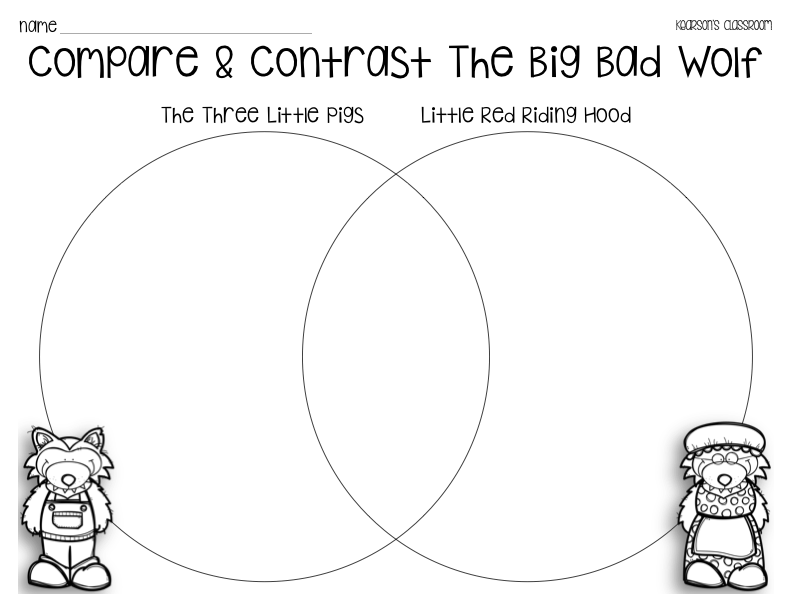 Kearsons Classroom Big Bad Wolf Compare amp Contrast