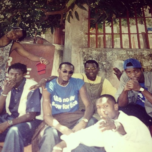 old photo of 2face, basketmouth, faze, sound sultan
