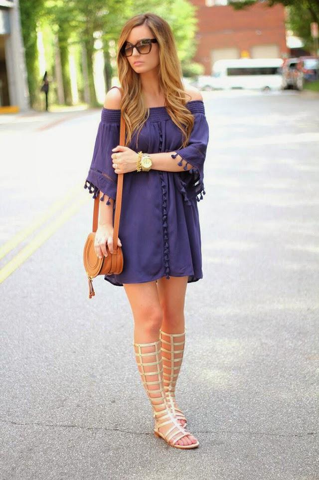 Megan Runion For All Things Lovely Tassel Dress