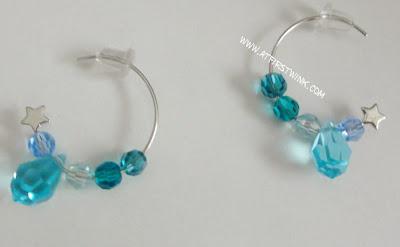 handmade swarovski earrings aqua colors