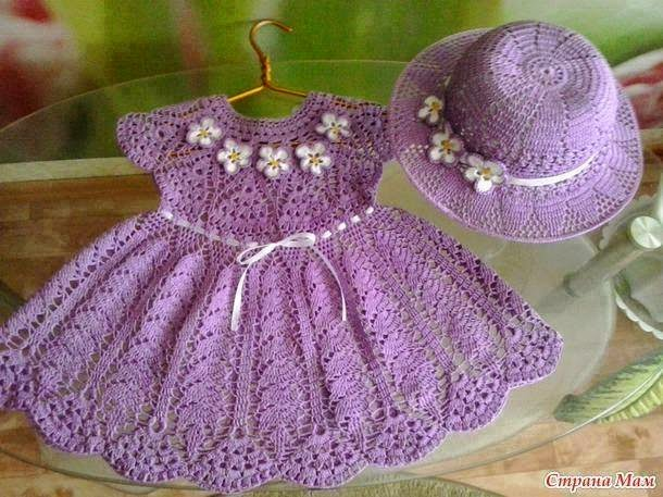 La Magia del Crochet: VESTIDOS PARA NIÑAS AL CROCHET