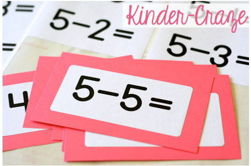 freebielicious  addition and subtraction flashcard labels