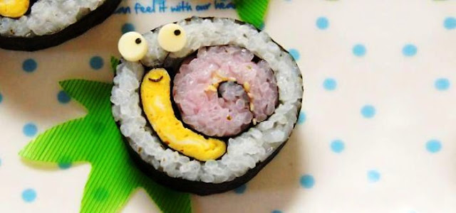 food art : adorable figures of sushi