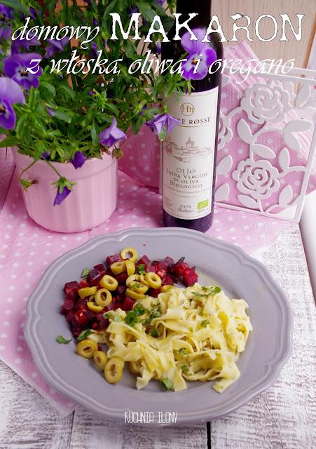 makaron, domowy makaron z oregano, pasta, kuchnia wloska, italia, cucina italiana. makaron,