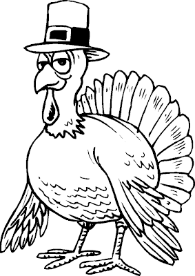 Free Thanksgiving Turkey Coloring Pages