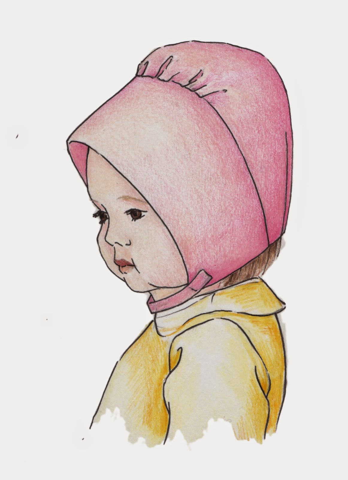 Vintage inspired sewing pattern for girls, winter hat