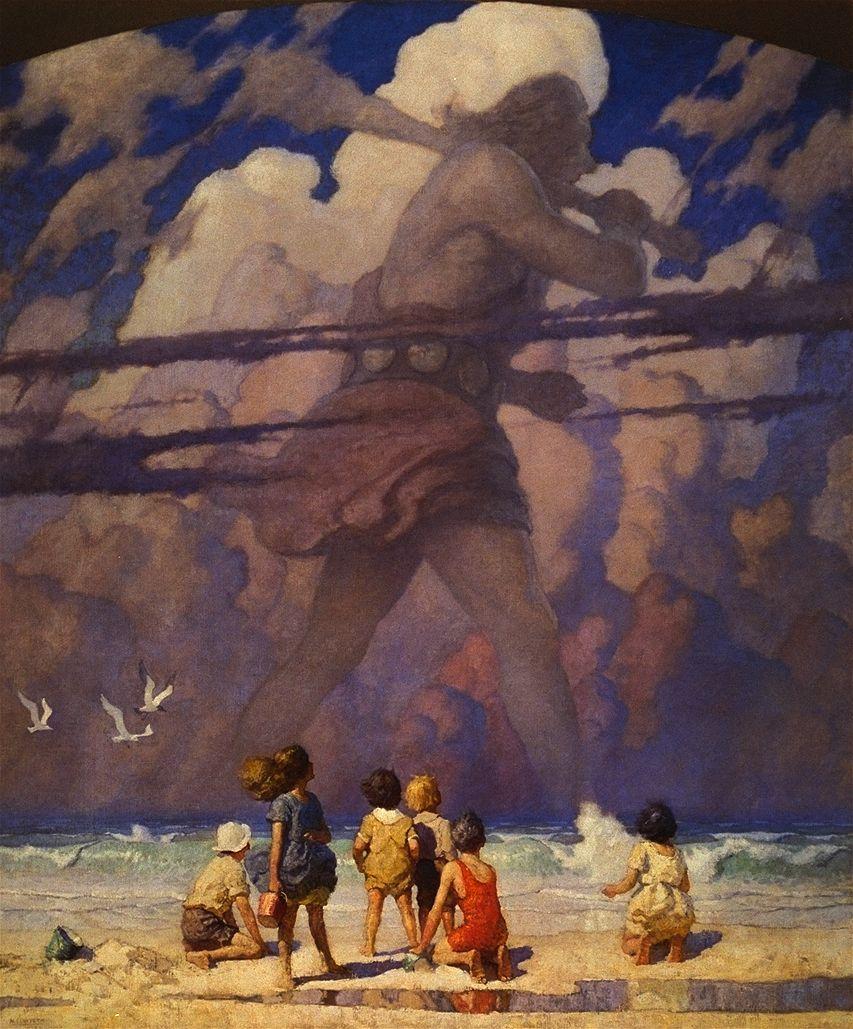 Illustration by N C Wyeth