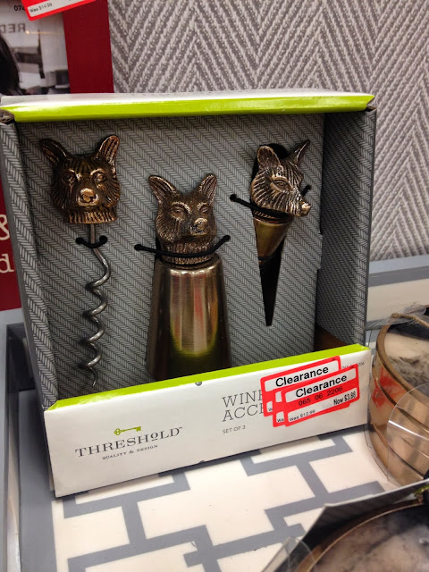 Threshold Target Fox Wine Accent set