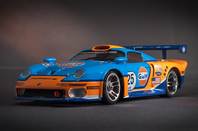 kyoshosan custom painted mini z gulf porsche gt1. Black Bedroom Furniture Sets. Home Design Ideas