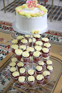 Cake+cupcake tower