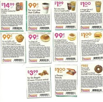 Dunkin donuts coffee coupons november 2018