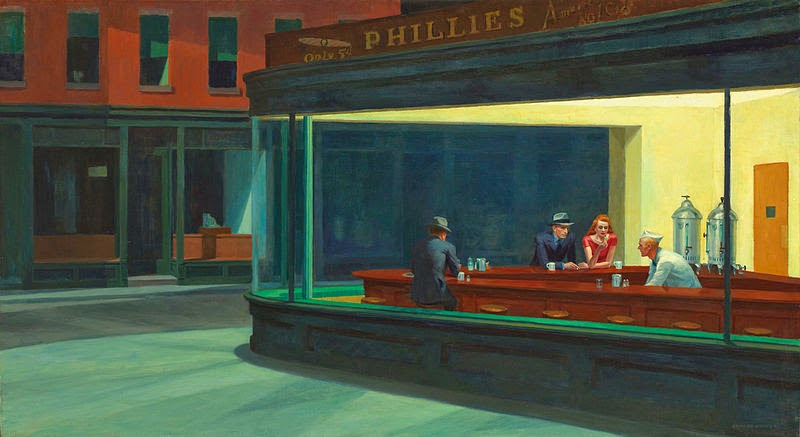 cuadro Nighthawks de Edward Hopper