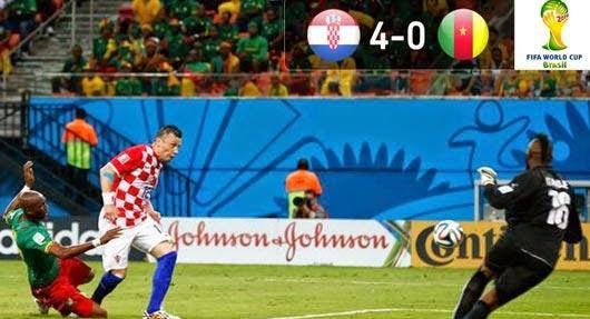 أهداف مباراة كرواتيا 4-0 الكاميرون