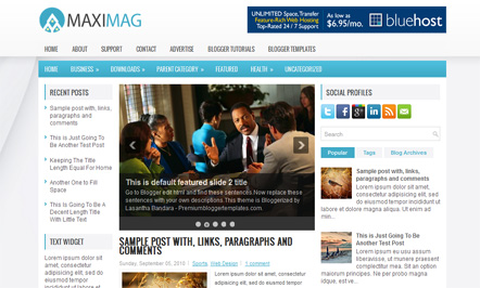 Maximag Blogger Template