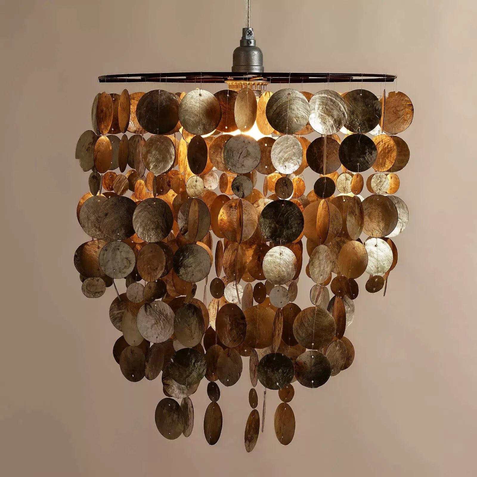 DIY Capiz Shell Chandelier Knock It Off Kim – Capiz Shell Chandelier Lighting