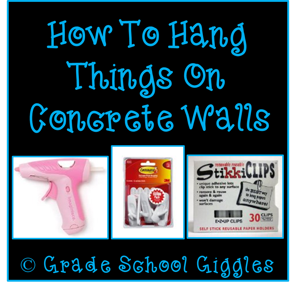 How to hang things on concrete walls