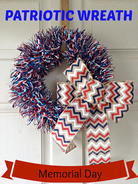 Memorial Day Wreath, DIY Patriotic Wreath, Firecracker Wreath.