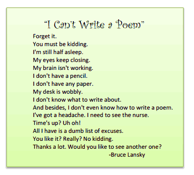 how to write a funny poem