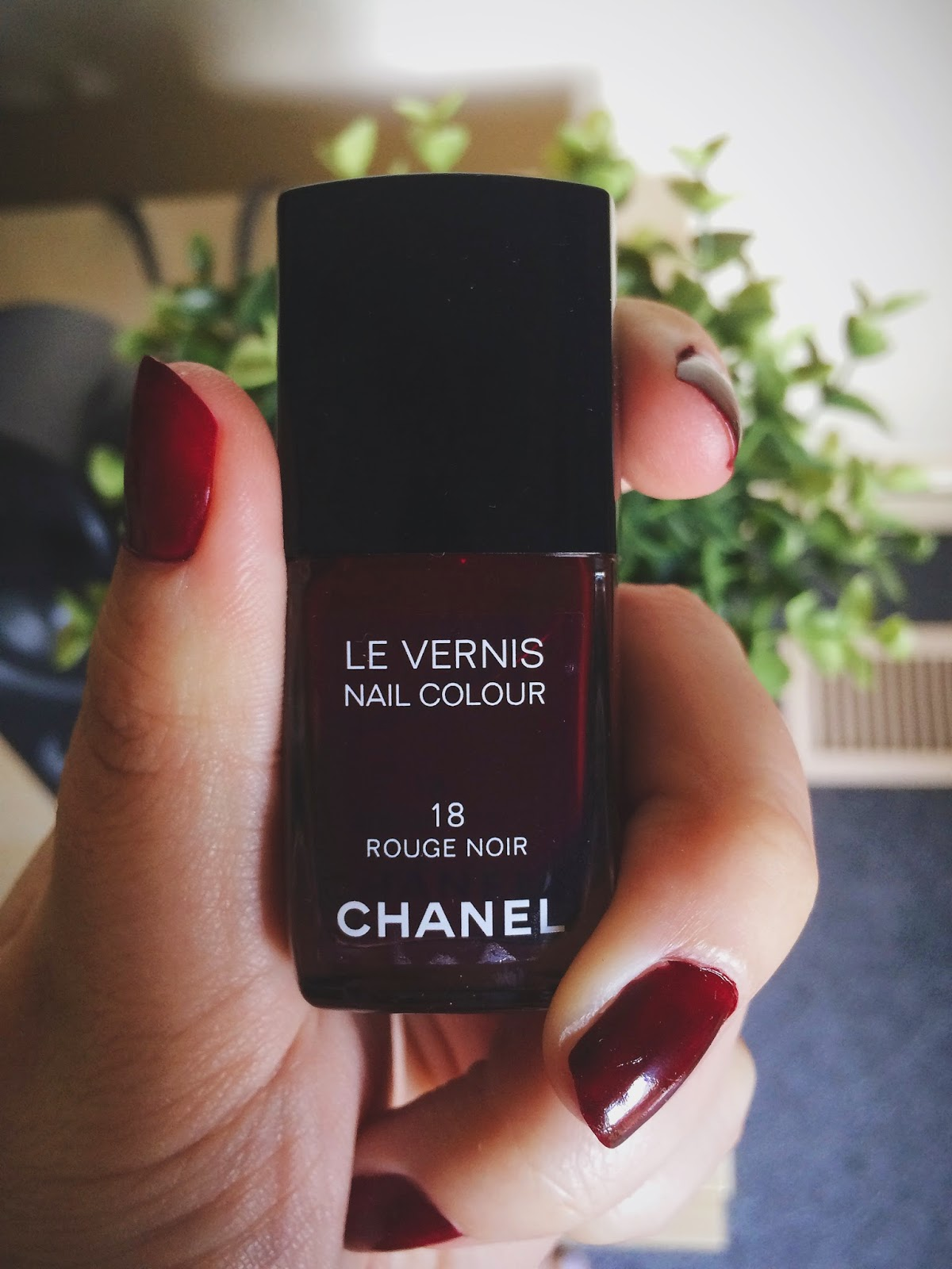 Chanel Nail Polish, Rouge Noir, Bramble and Thorn, Beauty, Makeup