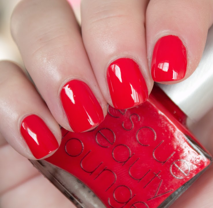Opaque Glossy Red Nail