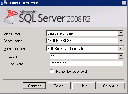 Create new SQL Database in different location using SSMS
