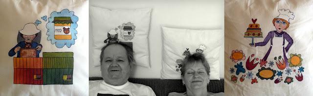 polštářky pro babi a dědu