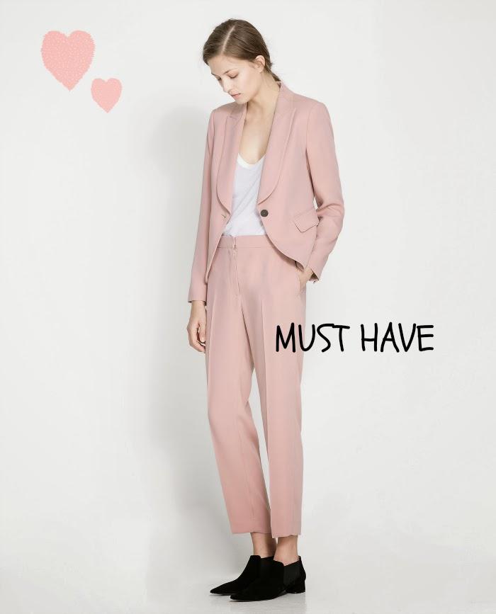 blazer rosa zara