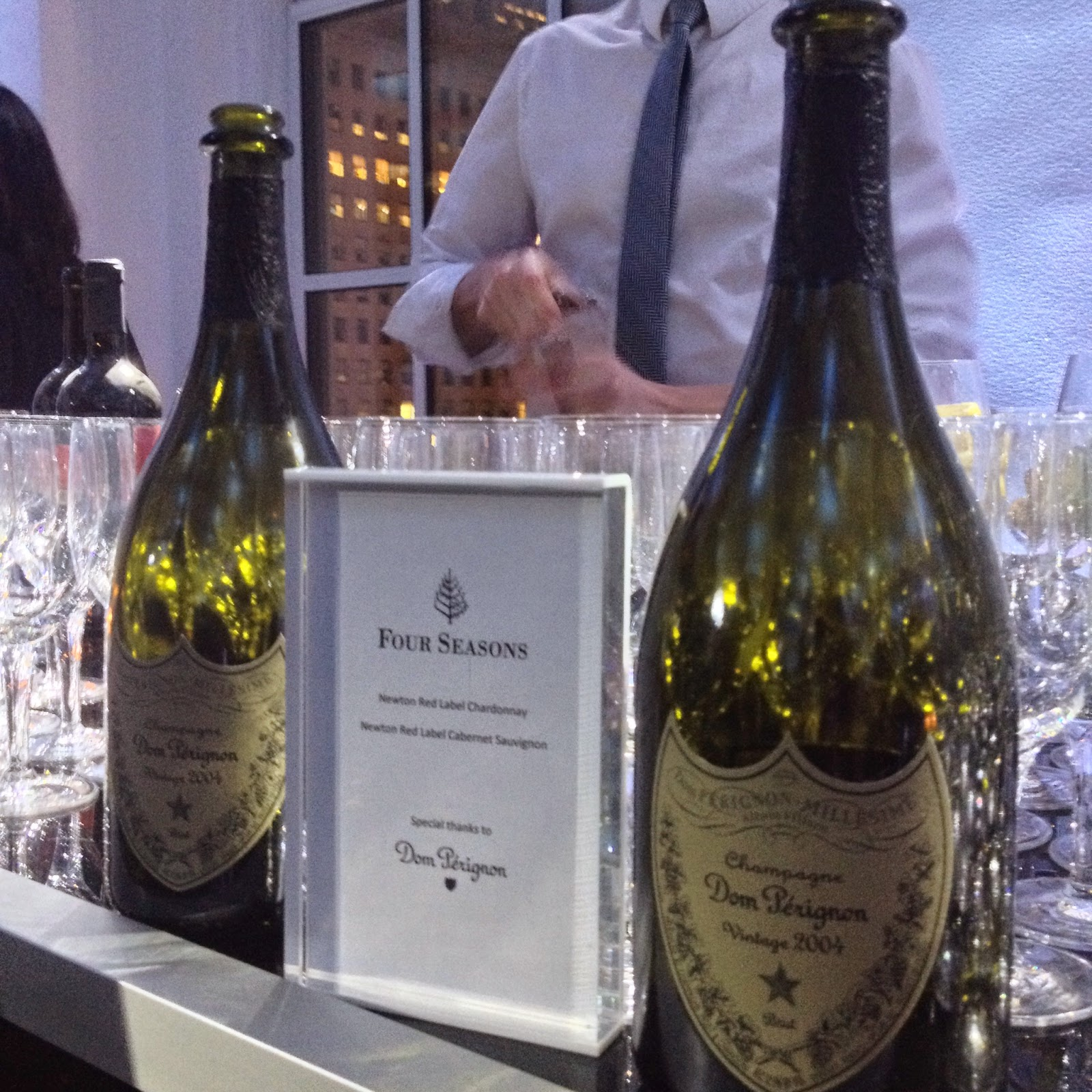 four seasons private jet - dom perignon
