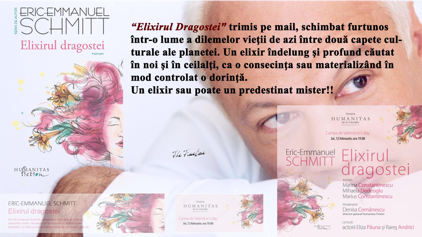 Elixirul Dragostei - Eric Emmanuel Schmitt recenzie Maria Teodorescu Bahnareanu Wrinkles on my Timeline