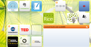 A screenshot of part of my PLN on Symbaloo