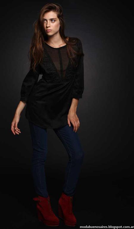 Camisas de mujer moda invierno 2013