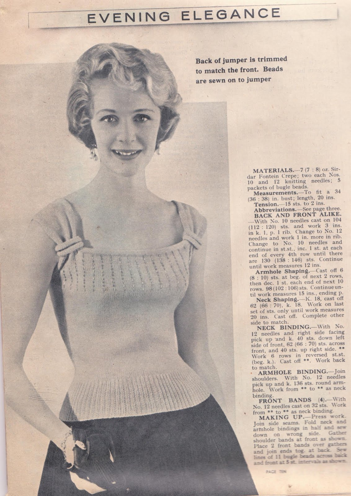 Knitting Patterns Free Vintage : Wayward Creating: Free Vintage Knitting Pattern!