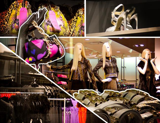 Versace for H&M, Versace, H&M, Versace for H&M display window, H&M display window collage