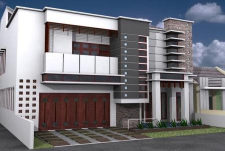 gambar depan rumah minimalis 2 lantai