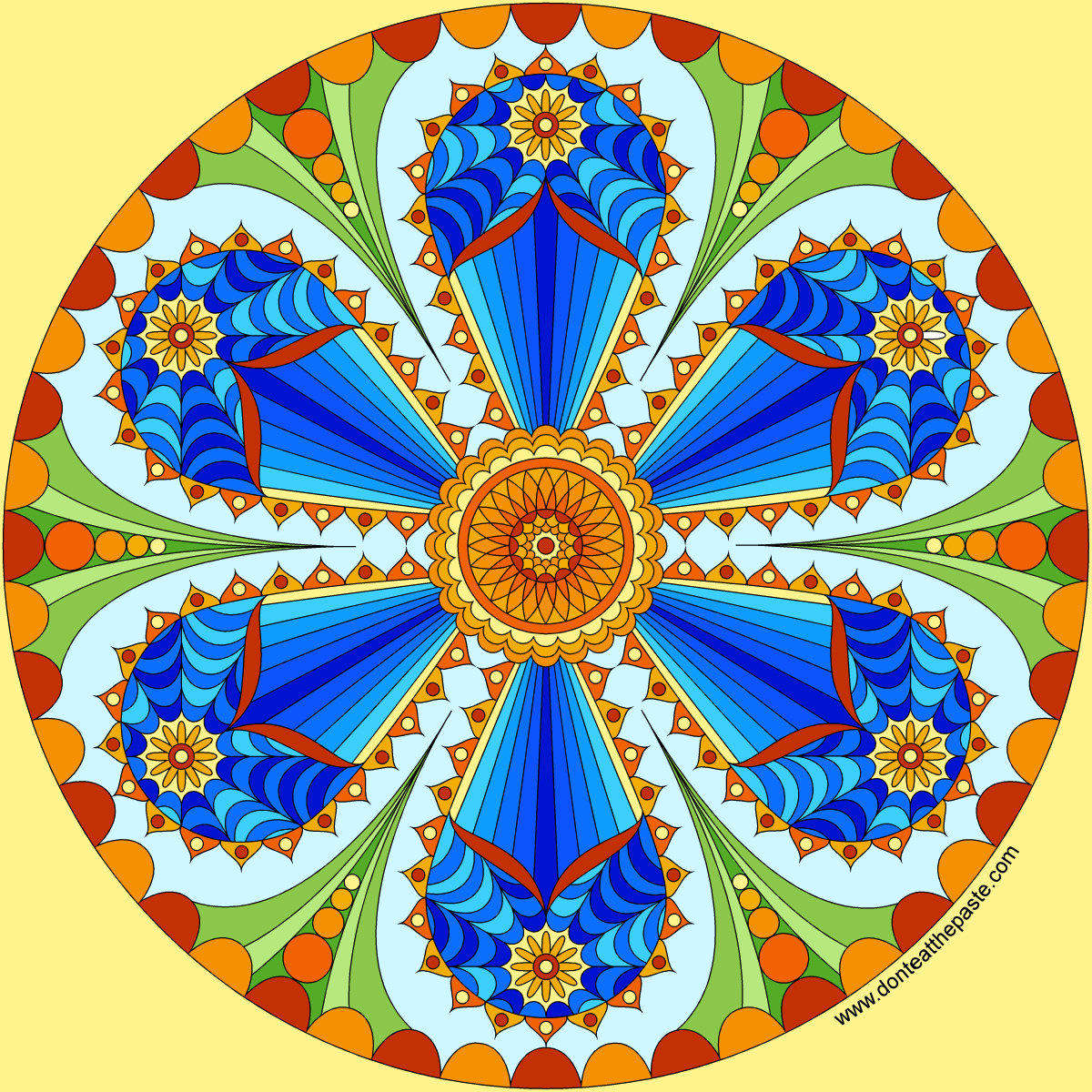 Don t Eat the Paste The first mandala of 2016