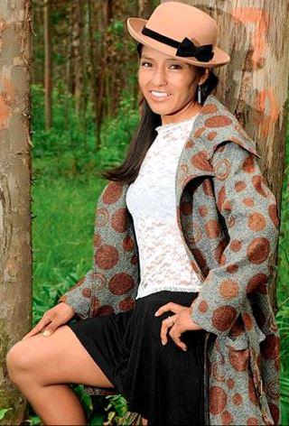 Foto de Inés Melchor en sesión de foto