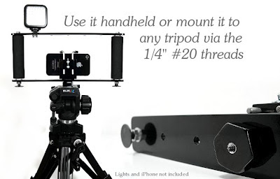 Stonghold Cell Phone Grip Mounted on Tripod