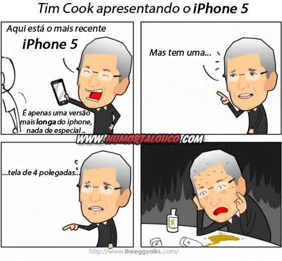 Melhores piadas sobre o iPhone 5 - iPhone 2012 - Tim Cook