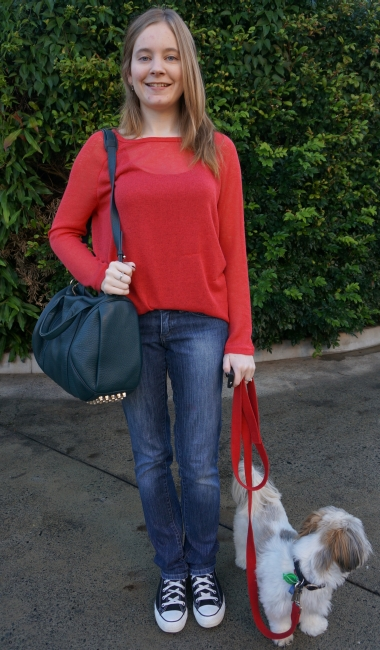 awayfromblue casual outfit alexander wang rocco converse jeans red fine knit jumper sweater