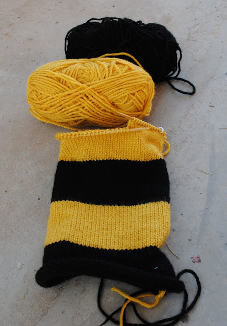 hufflepuff harry potter scarf progress