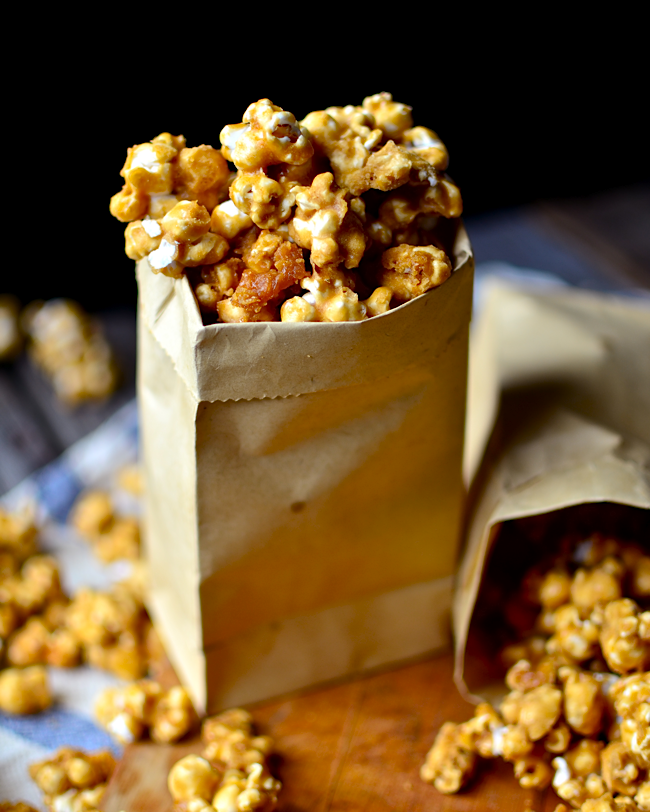 microwave caramel corn because I'm lazy and Grandma's caramel corn ...