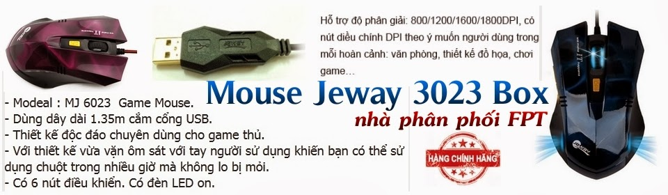 Mouse Gaming Jeway 6023 Box Chính Hãng